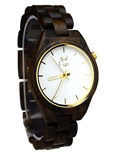 -Holzuhr--handgemachte-Armbanduhr-aus-Holz-35mm-dunkles-Sandelholz-Damen-Herren-kostenloser-Versand-50-Tage-Geld-Zurck-12-Monate-Garantie