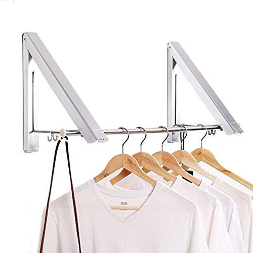 Rucksack Vakuum-maschine ([2Pack] Aluminium Kleiderbügel, Rack, höhenverstellbar Kleiderbügel, zusammenklappbar Wand Aufhänger für Wäschekorb/Badezimmer//Schlafzimmer/Kleiderschrank, Aluminium, Set, Einheitsgröße)