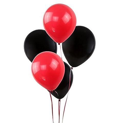 KUMEED Black Red Assorted Balloons 12