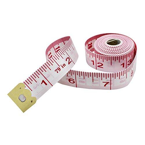 Maßband, 200 cm, doppelter Maßstab, weiches Maßband, für Körpergewichtsabnahme, Medizinische Messung, Nähen, Schneider, Stoff, Lineal, flexibel, bunt 1.6cm× 2.0 m Wie abgebildet (Maßband Wie Zu Ein Lesen,)