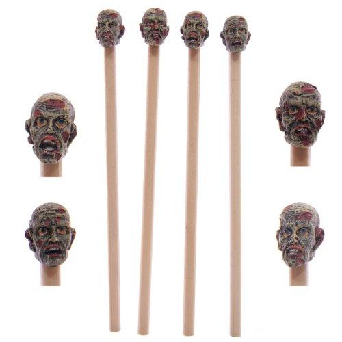 Bleistift mit Radiergummi Topper–Verschiedene Designs–Geschenk, Tütenfüller Zombie