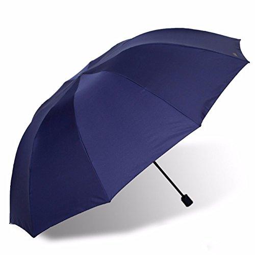 KHSKX Super Uomo ombrello pieghevole Golf tre in acciaio di