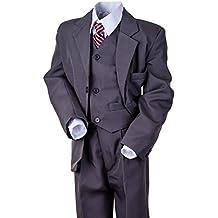 Fijo de 5partes Joven Traje con chaqueta, chaleco, camisa, pantalón y corbata