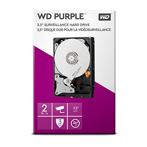 WD Purple 2TB Surveillance   Hard Disk Drive - Intellipower 3.5