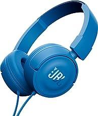 JBL T450 On-Ear Kopfhörer Ohraufliegend Leicht mit 1-Tasten-Fernbedienung und Mikrofon Kompatibel mit Apple und Android Geräten - Blau