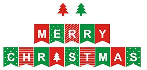 Isuperb® Pennant Multicolor Partito Bandiere Banner con cuore a pois per decorazioni, Natale, matrimoni e altre vacanze, Christmas Flag - Vacanze Di Natale Banner Flag