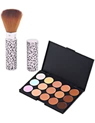 Make-up Concealer - SODIAL(R)15 Farbe Camouflage Concealer Kosmetik Make-up Creme Palette mit Pinsel