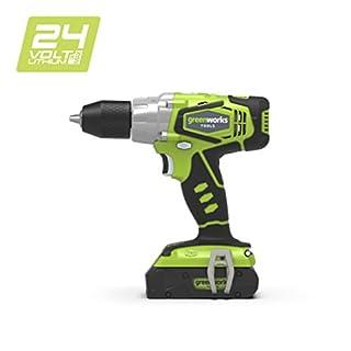 Greenworks Tools 3701507Bohrmaschine/Akkuschrauber, Li-Ion, ohne Akku oder Ladegerät, 24V, grün