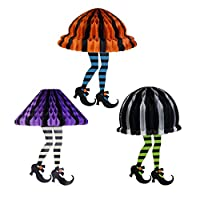 Coxeer 3PCS Novelty Skirt Party Paper Ball Hanging Decoration Halloween Paper Honeycomb
