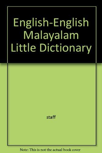 English-English Malayalam Little Dictionary