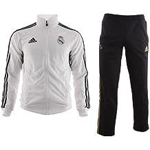 adidas Real Madrid C.F. - Chándal de rueda de prensa para niño, color blanco