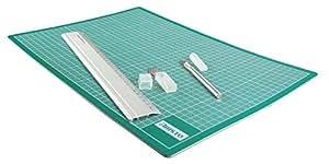 Aristo Cut-Mat / AR230459 Set de découpe Tapis de découpe/cutter/règle (Import Allemagne)