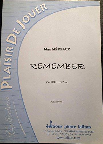 REMEMBER - Max Mreaux pour Flte et Piano