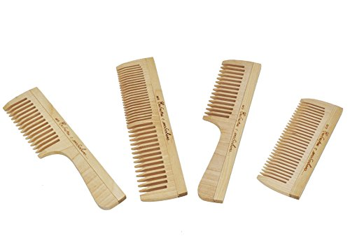 Juego peines madera siberianos: 1 demostrador, 1 peine