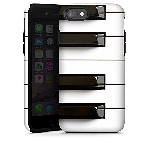 Apple iPhone SE Silikon Hülle Case Schutzhülle Piano Klavier Musik Tough Case glänzend