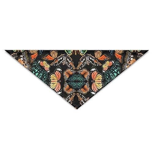 Hectwya Abstrakte Schmetterlings-Malerei-Hundebandana-Schellfisch-Welpen-Katzen-Kopf-Schal-Zubehör (Diva Katze Kostüm)