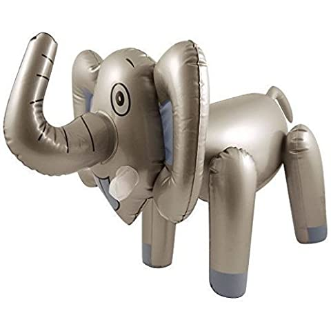 65CM INFLATABLE BLOW UP ELEPHANT ANIMAL TOY SAFARI NOVELTY by