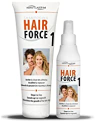 Hair Force One kit Lotion 150 ml + Shampooing 250 ml - Anti chute Repousse cheveux - Claude Bell
