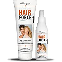 Hair Force One kit Loción 150 ml + champú 250 ml - Anti caída Ahuyentador cabello - Claude Bell