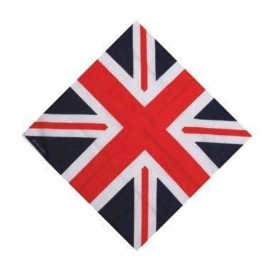 red white blue cotton BANDANA scarf UNION JACK FLAG