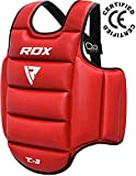 RDX TKD Corpetto Protettivo Corpetti Taekwondo Torace Petto Guardia Corpo Kickboxing Costola Arti Marziali Protezione Karate(Reversibile)