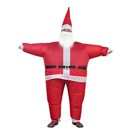 Joyibay Aufblasbares Kostüm Lustiges Fantastisches Sankt Kostüm Sprengen Kostüm für Weihnachtsfest
