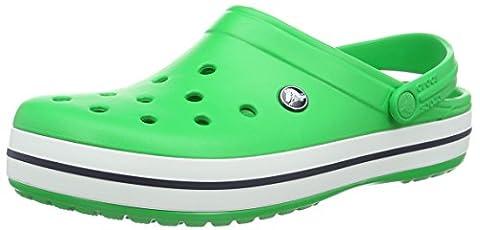 Crocs Unisex-Erwachsene Crocband Clogs, Grün (Grass Green/White), 37/38 EU