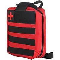 Erste-Hilfe-Rucksack, ABEDOE MOLLE kompatibel EMT Erste-Hilfe-Tasche 600D Water Resistant Nylon (Red) preisvergleich bei billige-tabletten.eu