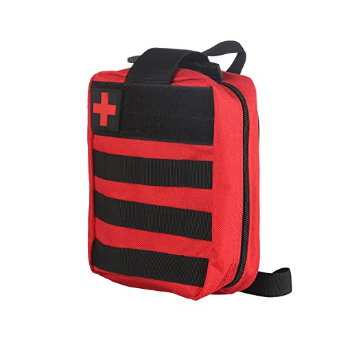 ONEVER Erste-Hilfe-Kit Tactical Survival Kit Molle Rip-Away EMT Tasche Tasche IFAK Medical f¨¹r Notfall Taktische Situation -Red -