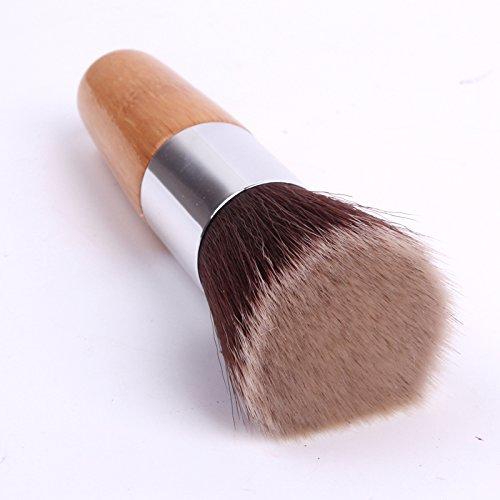 XUAN Pinceaux de maquillage fibre unique Fondation maquillage pinceau égayer pinceau plat
