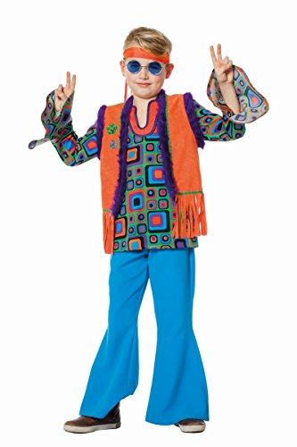 Kinder Kostüm Hippie Junge Oberteil Weste Karneval Fasching Gr.152