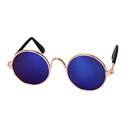 Roblue Kleine Hunde Katze Gläser Brille Sommer Haustier Outdoor Reise Sonnenbrille Bunt Schwarz Grün Blau rot Lila rosa Braun 8*7.3cm
