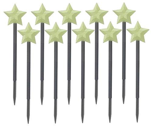 Patio Stein (Patio Eden - Glow Stein Garten Stangen - Form eines Sterns)
