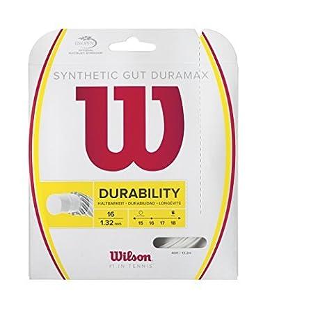 Wilson Synthetic Gut Duramax 40-Feet Tennis String Set, White, 17 by Wilson