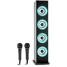 auna Karaboom Cassa Karaoke a torre con sistema bluetooth e