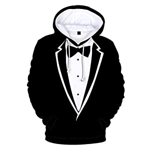 FaTsot Unisex Sweatshirt Hoodie Pullover 3D Drucken Kapuzenpullover,Partner Valentinstag Sweatshirt Anzug Muster 3D Print Langarm Sweatshirt Kapuzenpullover Tops Pullover Sweatshirt