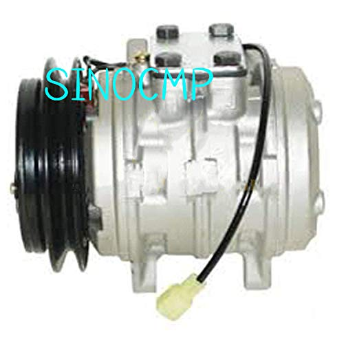 SINOCMP A/C Kompressor mit Kupplung T0070-87290 Luftkompressor Neu Klimaanlage Kompressor AC Kompressor Kupplung Assy für Kubota M9000-CAB M9000DT-CAB U35-S2, 3 Monate Garantie - Mit Kupplung Kompressor Ac
