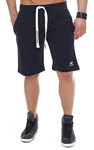 Finchman 96V4 Herren Cotton Sweat Short Kurze Hose Bermuda Navy S - Schwarze Und Weiße Camo