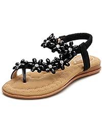 48050b953f4a92 Oliviavane Sandales Compensées Femmes Strass Plates Claquettes Tongs Bride  Modal Fashion Cheville Sandals Sandals Strass Sport