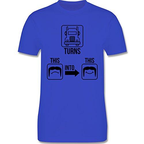 Trucker - Glücklicher Trucker - Herren Premium T-Shirt Royalblau