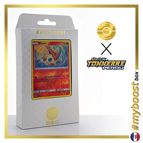Victini 49/214 Holo Reverse - #myboost X Soleil & Lune 8 Tonnerre Perdu - Box de 10 Cartas Pokémon Francés