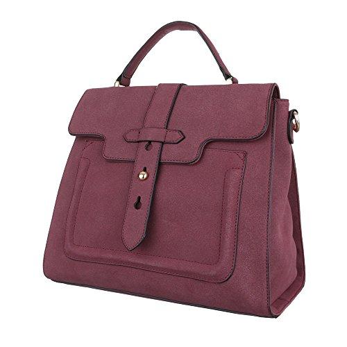 Kunstleder Damentasche TA dEsiGn Schultertasche Handtasche Mittelgroße A10 Tragetasche Bordeaux iTal Yq5wCUx