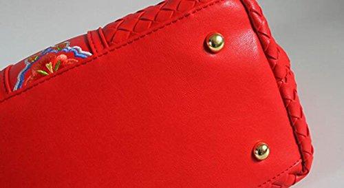 Handgewebte Beutel Schulterbeutel Kurierbeutelhandtaschenjungen Nationale Art Und Weisehandtaschen Einfache Art Und Weise Yellow