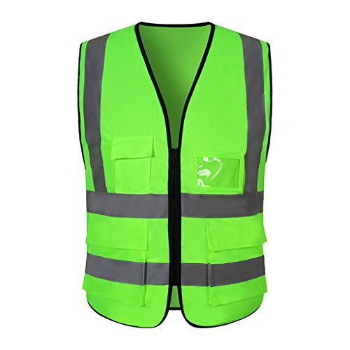 Ropa Reflectante Chaleco de Seguridad Chaleco Transpirable Overoles Liuyu. (Color : Fruit Green)