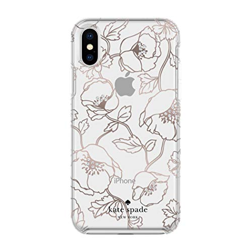 kate spade New York Handy Fall für iPhone X - Multi Dreamy Floral Rose Gold mit Gems