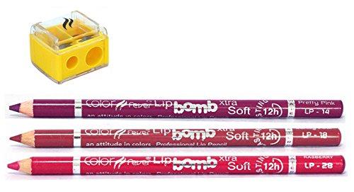 Lip Liner Budget Pack By Color Fever - Sharpener