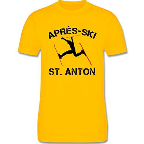 Après Ski - Apres Ski St Anton - Herren Premium T-Shirt Gelb