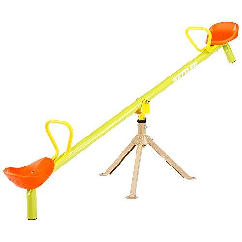 Kettler Karussellwippe - Kinderwippe mit Kreisbewegung für extra Spielspaß - Gartenwippe mit Karussell- und Wippfunktion - aus hochwertigem, sicherem Präzisionsstahlrohr - gelb, grün & orange