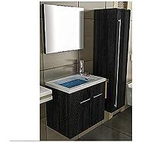 Lavabo con mueble de baño/negro mueble/lavabo/baño-WC/Waschplätz/mueble de baño/cuarto de baño/lavabo