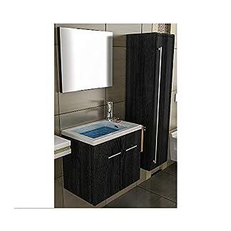 41HcWAjUUGL. SS324  - Lavabo con mueble de baño/negro mueble/lavabo/baño-WC/Waschplätz/mueble de baño/cuarto de baño/lavabo